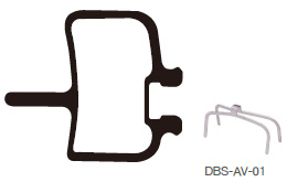 Disc Brake Pads-AVID: DPS-AV-01-X-B