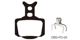 Disc Brake Pads-FORMULA: DPS-FO-04-X-B