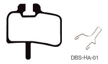 Disc Brake Pads-HAYES: DPS-HA-01-X-B