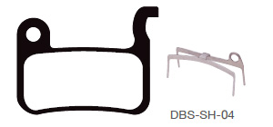 Disc Brake Pads-SHIMANO: DPS-SH-04 -X-B